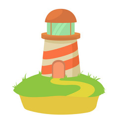 lighthouse icon cartoon style vector image