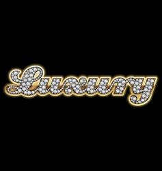 luxury in diamonds vector image