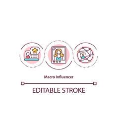 Macro influencer concept icon vector