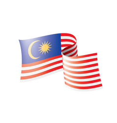 Malaysia flag on a white vector
