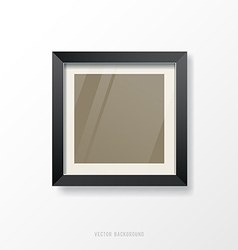 Modern black frame vector