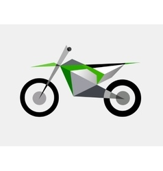 Motocross bike extreme sport vector