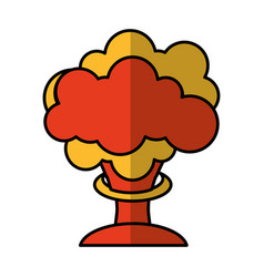 Nuclear explosion isolated icon vector