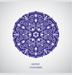 ornamental hand drawn mandala vector image