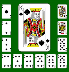Playing cards suit spades vector