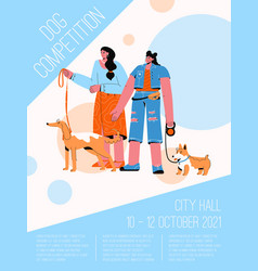 poster dog competition concept vector image