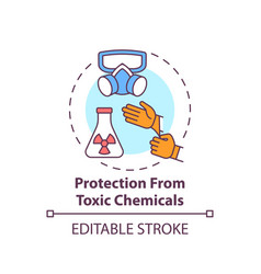 Protection from toxic chemicals concept icon vector