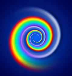 Rainbow spiral spectrum vector