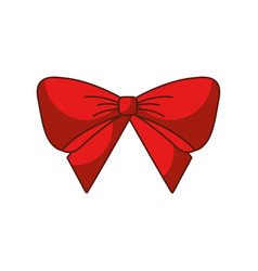 red bow christmas decoration ornament vector image