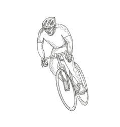 Road bicycle racing doodle vector