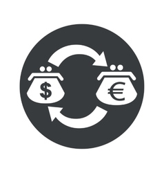 Round dollar euro exchange icon vector image