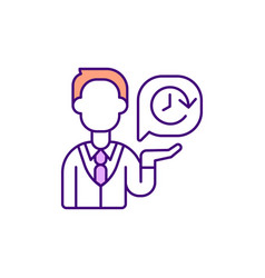 Rude service puts customers off rgb color icon vector