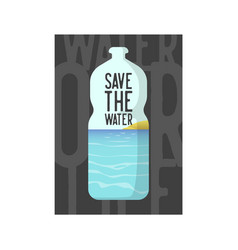 save the water poster banner brochure flyer vector image