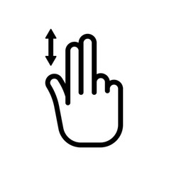 Scroll down icon two finger vertical scroll vector