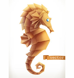 Sea horse 3d icon vector