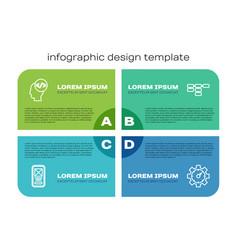 Set line ui or ux design front end development vector