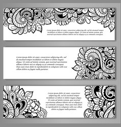 set of card or invitation vector image
