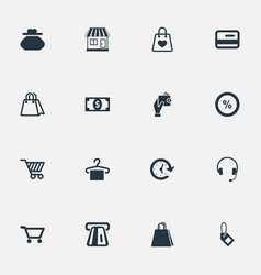 Set of simple money icons vector