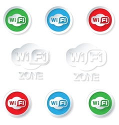 Set wifi icons vector image