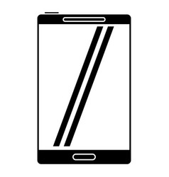 Smartphone mobile technology screen pictogram vector