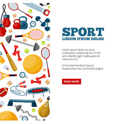sport center landing page template vector image