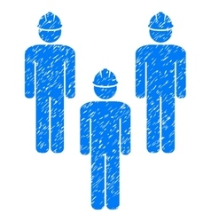 Standing Engineer Group Grainy Texture Icon vector