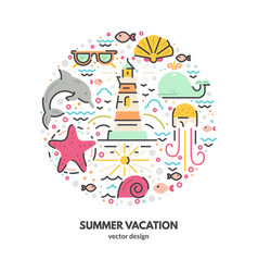 Summer holidays concept vector