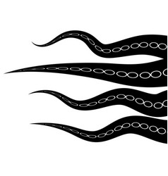 tentacles octopus parts of sea monster natural vector image
