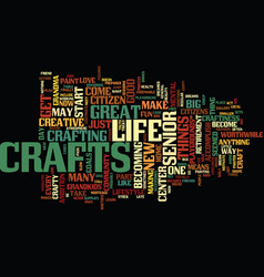 The craftiness of crafts text background word vector
