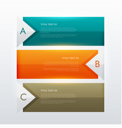 Three steps modern colorful infographic design vector