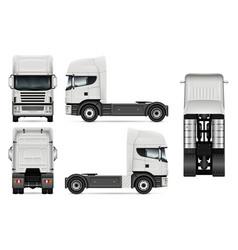 tractor truck vector image