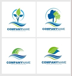 Trees and Leaves Logo vector image