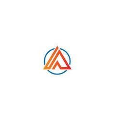 Triangle line delta company logo vector