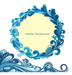 Tropical water background vector image vector image