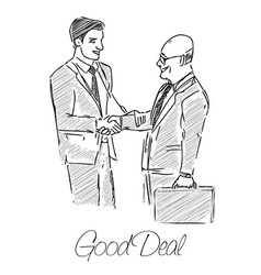 Two businessmen made a good deal vector