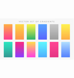 vibrant colorful gradients swatches set vector image