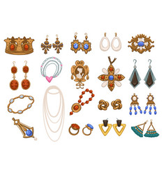 vintage and retro jewelry and accessories ladies vector image