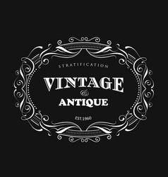 Vintage frame design antique label border vector