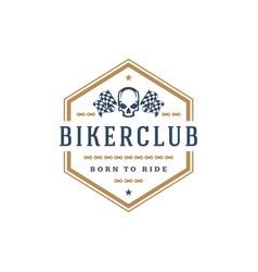 biker club logo template design element vector image