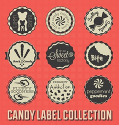 Candy and Sweets Labels vector image