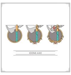 Icons Fantasy Axe vector image