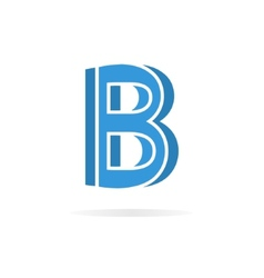 Logo B letter for company design template vector image
