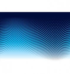 ocean halftone wave vector image vector image