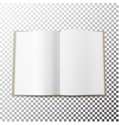 open magazine spread blank simple mock up vector image