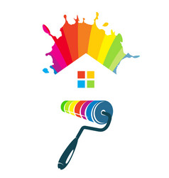 symbol for painting houses vector image vector image