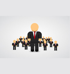 the real leader - business man in crowd vector image