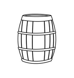 wine barrel wooden conatiner line image vector image