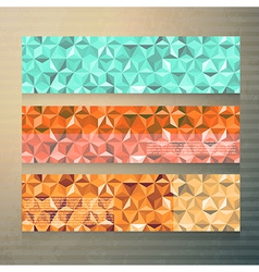 Modern banners with polygonal background vector image