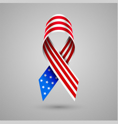 american flag ribbon patriotic symbol of 4 july vector image vector image