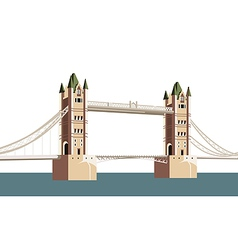 ancient bridge over the river vector image vector image